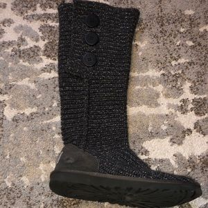 UGG Cardy Boot: Tall, charcoal & silver